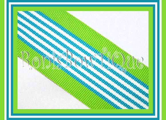 Blue Hawaiian Twist Stripe Ribbon
