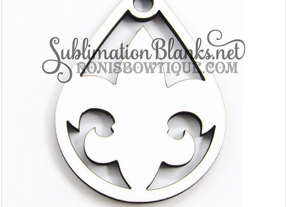 FLEUR DE LIS Teardrop SUBLIMATION BLANKS EARRING BLANKS MDF