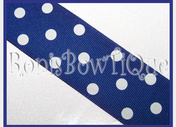 Royal Blue with White Polka Dots RIBBON