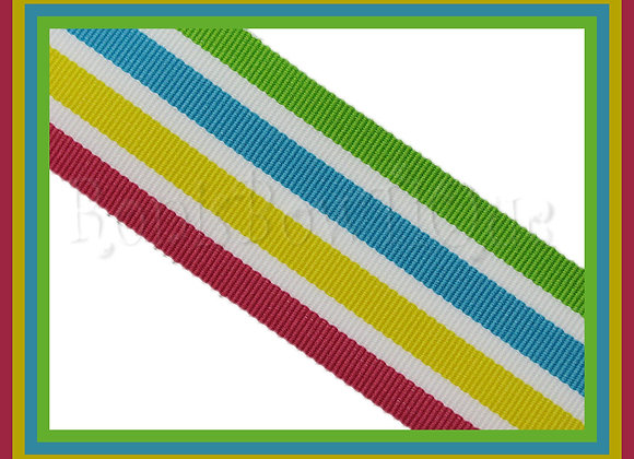 Caribbean Smoothie Stripe Ribbon