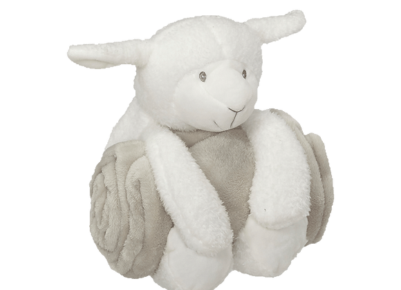 EMBROIDER BUDDY Lamb Blankey Hugger Gift Set Embroidered Persona