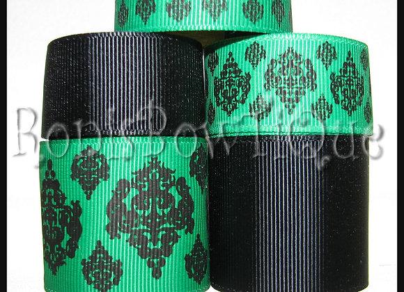 GREEN DAMASK TOILE Ribbon Lot