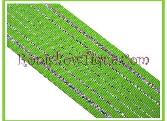 Green Glitz Glitter Ribbon