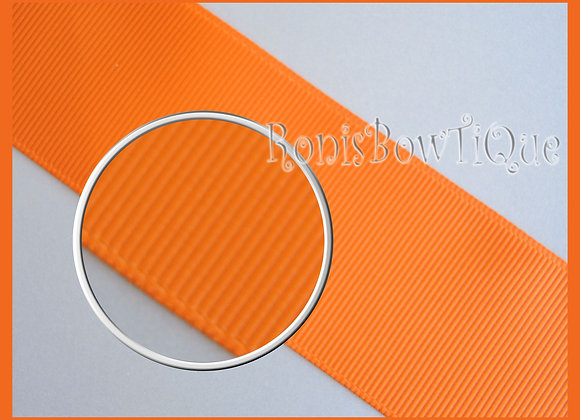 Tangerine Orange Solid Grosgrain Ribbon