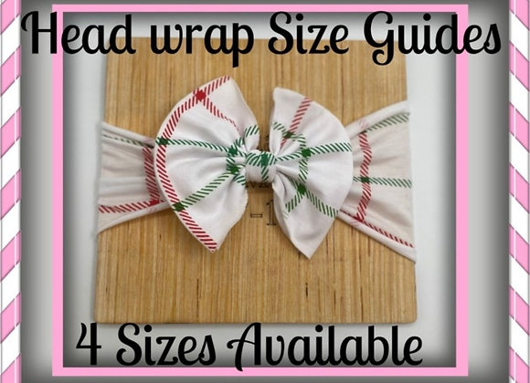 Head wrap Head Band Hair Bow Size Guide Measuring Boards Wooden Boards