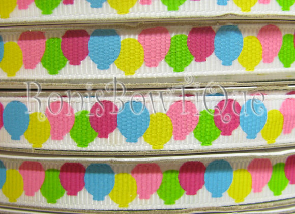 "3/8"" BALLOONS- Matches Birthday Party Ribbon ROLL"