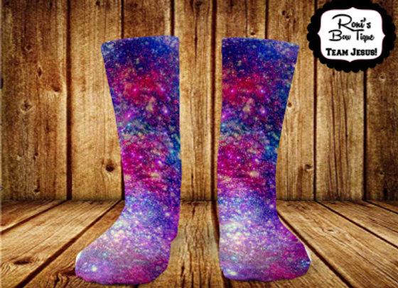 Galaxy Space Printed Socks Fun Socks