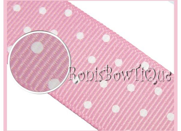 Pink with White Swiss Dots RIBBON