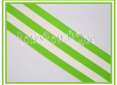Lime Stripe Ribbon