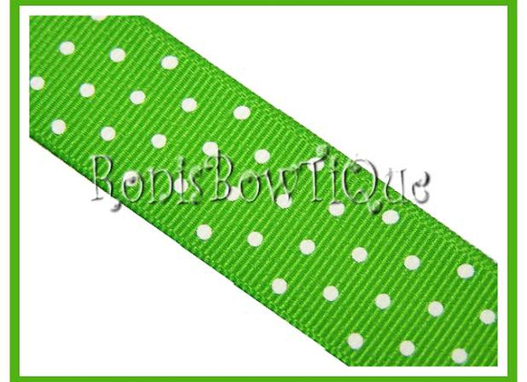 Lime Green with White Swiss Dots RIBBON