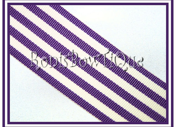 Purple Monarch Stripe Ribbon 1 YARD
