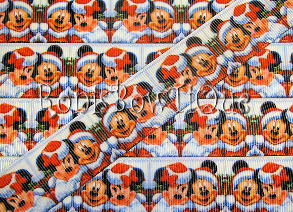 MICKEY MINNIE MOUSE SANTA HATS CHRISTMAS