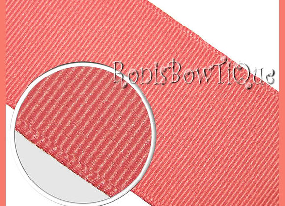 Watermelon Pink Solid Grosgrain Ribbon