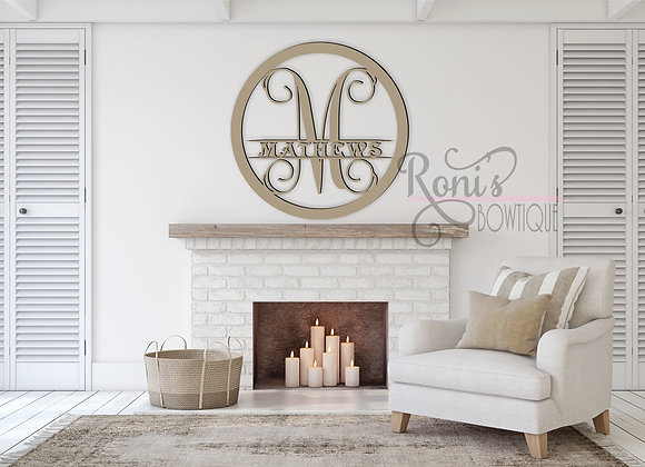 "Wholesale Wooden Wall Lettering 20"" Round with 1 Letter"