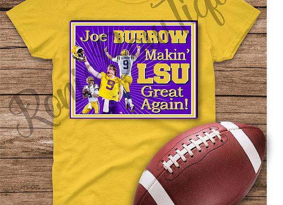 ADULT Makin' LSU Great Again Tshirt