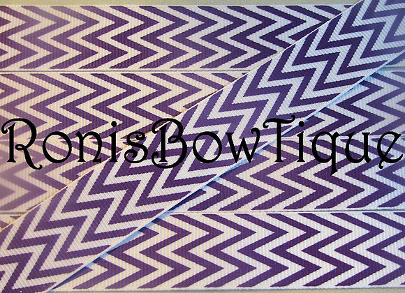 PURPLE WHITE CHEVRON