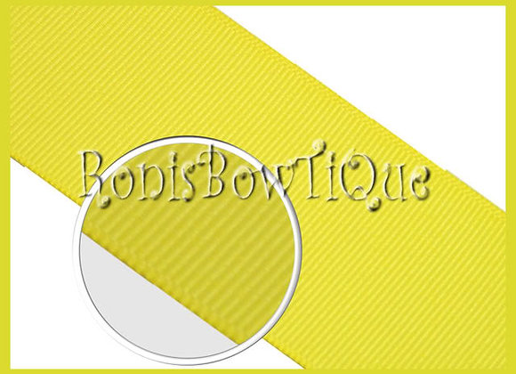 Lemon Yellow Solid Grosgrain Ribbon