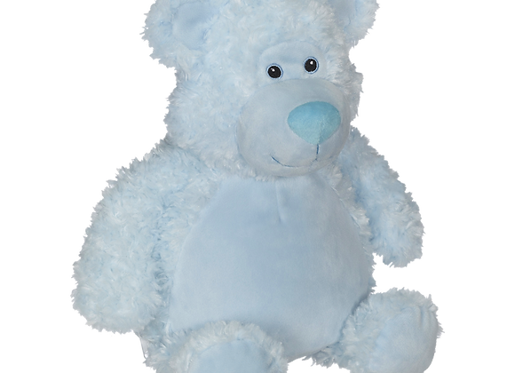 EMBROIDER BUDDY Bobby Buddy Bear, BLUE Personalized Gift Teddy Bear