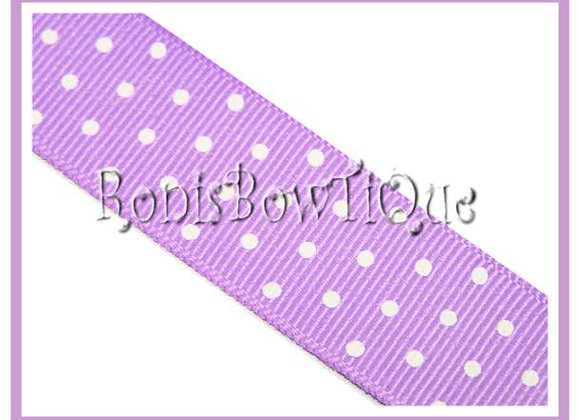 Lt Purple with White Swiss Dots RIBBON