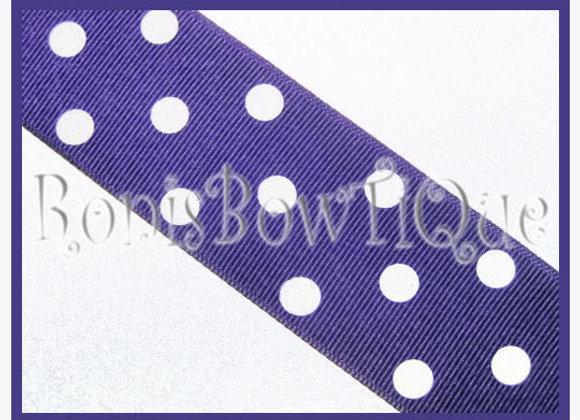 Purple with White Polka Dots RIBBON