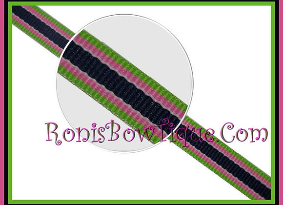 "3/8"" Bahama Breeze Stripe Ribbon - 1 YARD"