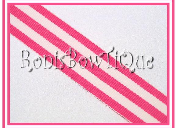Geranium Pink Stripe Ribbon