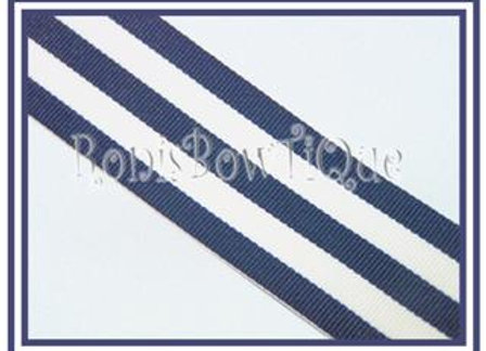 Navy Blue Stripe Ribbon