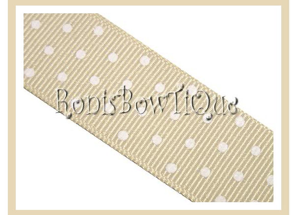 Ivory Cream with White Swiss Dots RIBBON
