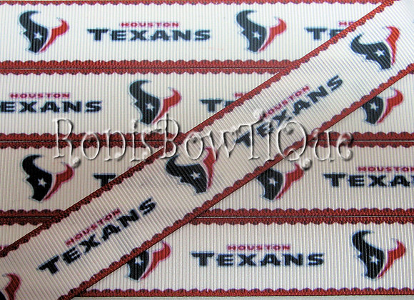 HOUSTON TEXANS ON WHITE