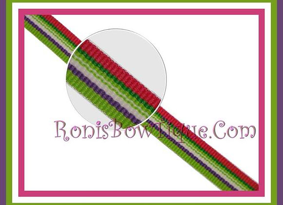 "3/8"" Beach Blanket Stripe Ribbon - 1 YARD"