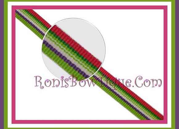 "3/8"" Beach Blanket Stripe Ribbon - 1 YARD"