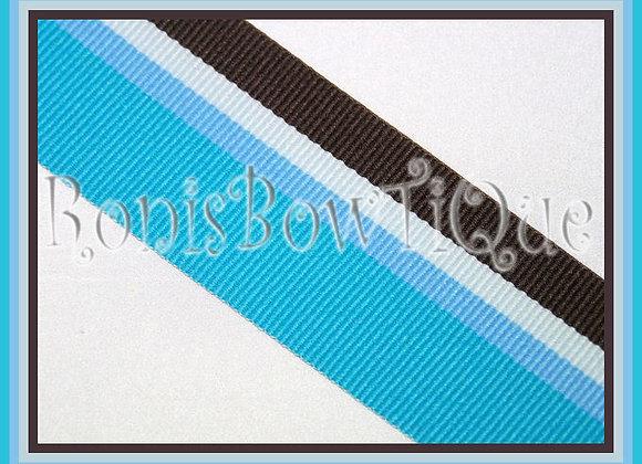 Chocolate Blueberry Stripe Ribbon