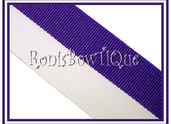 Purple White Bi Stripe Cheer Collegiate Ribbon