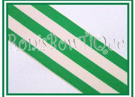 Emerald Green Stripe Ribbon