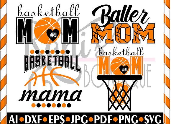 BASKETBALL mom SVG - Basketball Mom Bundle svg cut files  Team mom svg Mom life
