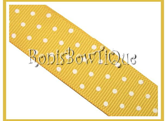 Yellow with White Swiss Dots RIBBON
