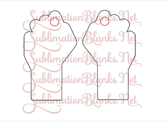 """FREE HAND FIST BLANK TEMPLATE FOR 2"""" EARRING"""