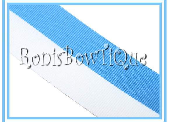 Baby Blue White Bi Stripe Cheer Collegiate Ribbon