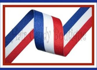 Red White Royal Blue Tri Stripe Ribbon