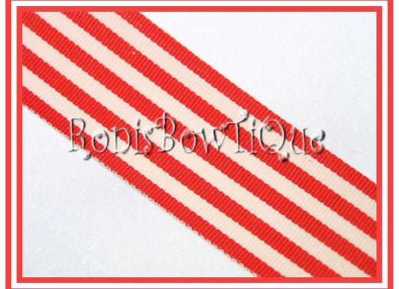 Orange Monarch Stripe Ribbon 1 YARD
