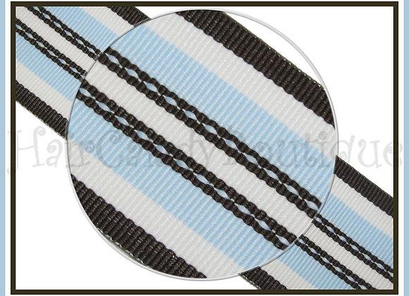 Blue Brown Super Hot Trax Stripe Ribbon