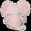 Thumbnail: EMBROIDER BUDDY Ellie Elephant Buddy Pink Personalized Gift Stuffed Animal