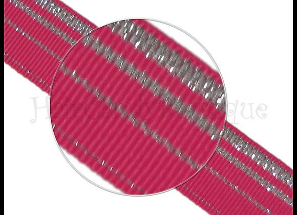 Hot Pink Glitz Glitter Ribbon