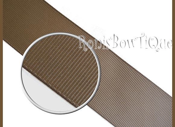 Turftan Brown Solid Grosgrain Ribbon