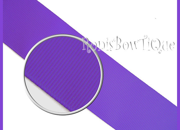 Purple Solid Grosgrain Ribbon