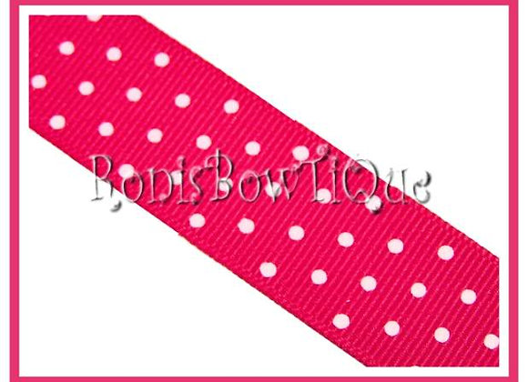Hot Pink with White Swiss Dots RIBBON