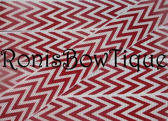 RED WHITE CHEVRON