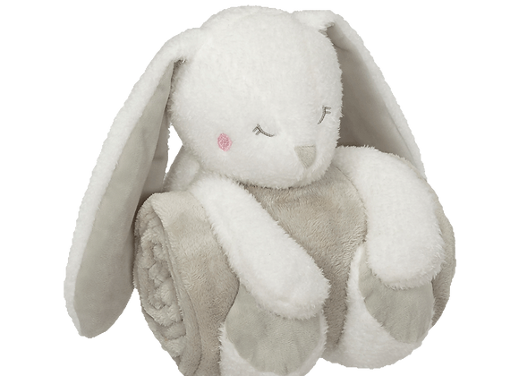 EMBROIDER BUDDY Bunny Blankey Hugger Gift Set Embroidered Personalized Baby Gift
