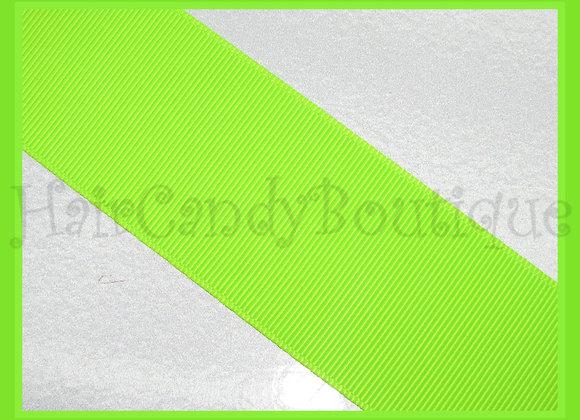 Neon Green Solid Grosgrain Ribbon