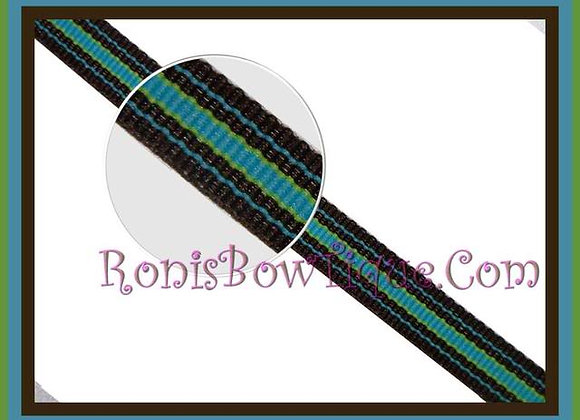 "3/8"" Bermuda Cool Stripe Ribbon - 1 YARD"